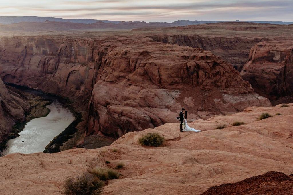 Horseshoe Bend Elopement in Page, Arizona