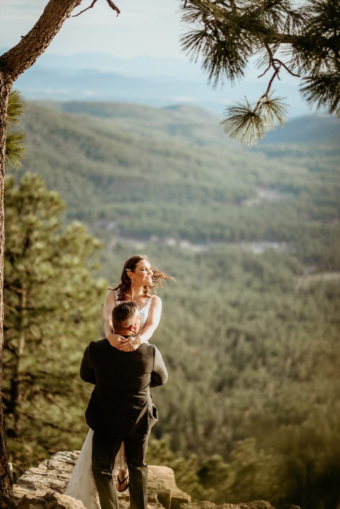 Incredible views during this epic outdoor elopement in Arizona