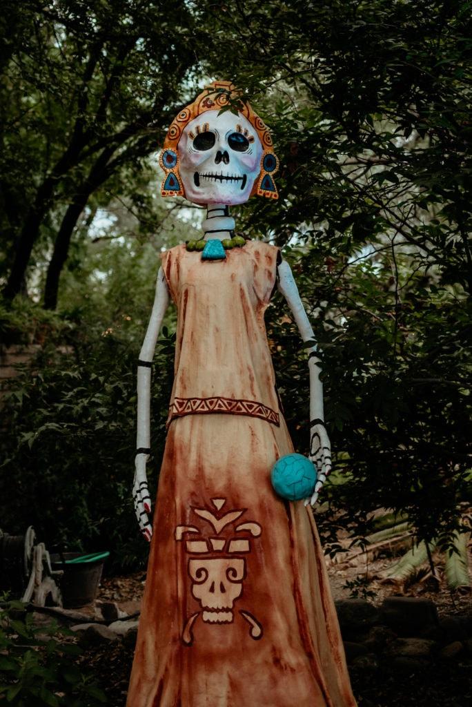 Dia De Los Muertos sculpture with native influence at the Tucson Desert Botanical Gardens