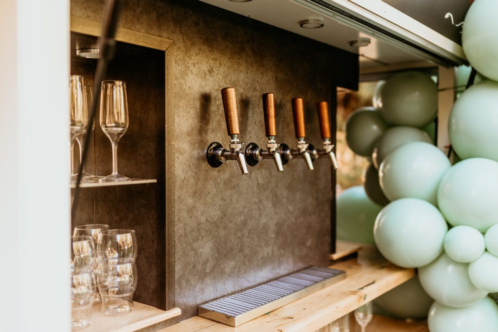 Bubbles and Brews traveling bar