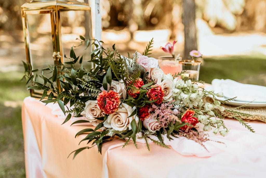 Incredible florals at Schnepf Farms wedding in Queen Creek, AZ