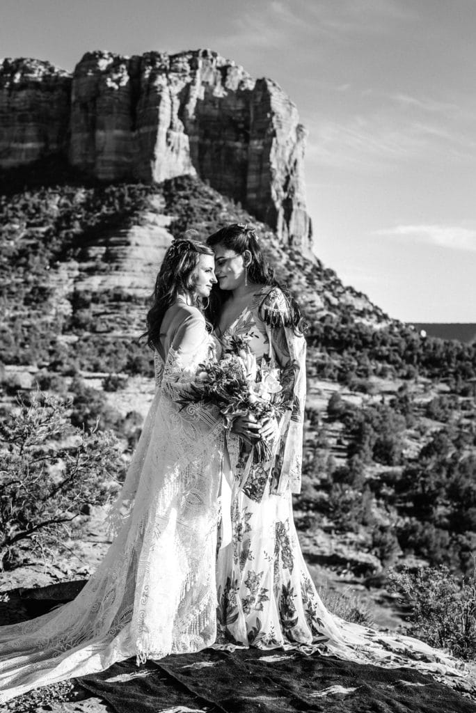 Desert sunset wedding in Sedona