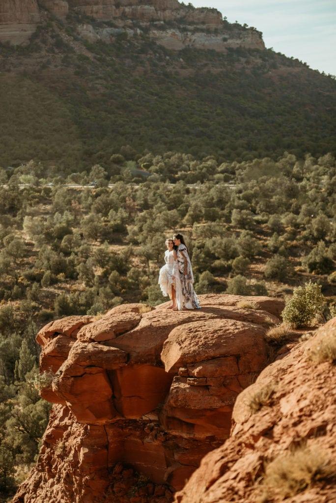 Incredible red rock views during Sedona elopement