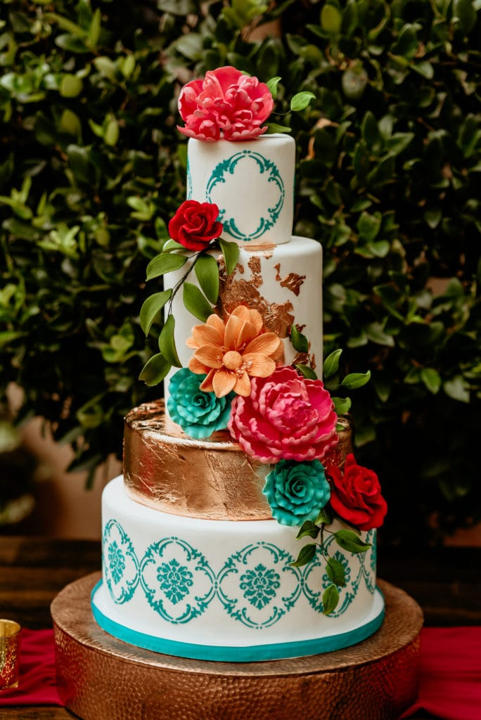 A wedding cake almost too beautiful to eat