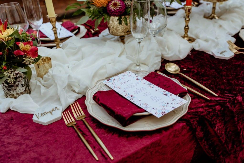 Table setting at Tlaquepaque reception