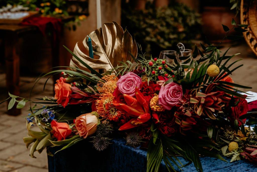 Vibrant tropical bridal bouquet