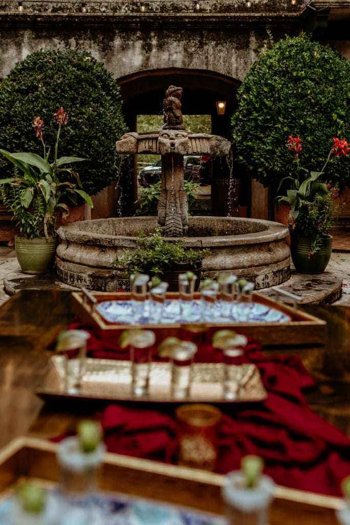 View of one of the many fountains at Tlaquepaque Art Village