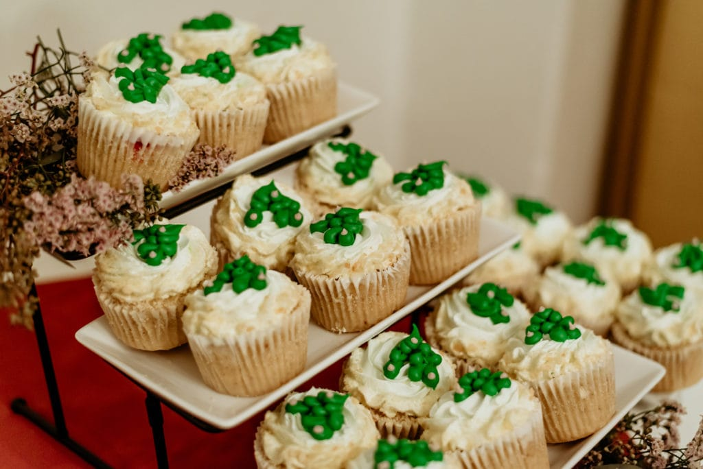 Cupcakes with saguaro decorative frosting